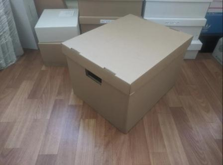 Классическая архивная коробка с отдельной крышкой