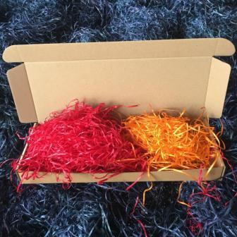 Цветной древесный наполнитель для коробок