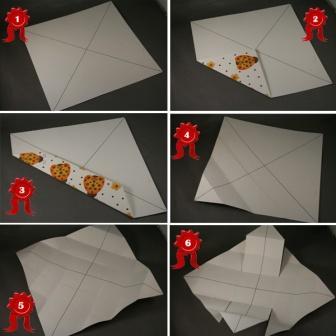 Подарункова коробка у стилі орігамі: крок 1
