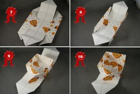 Подарункова коробка у стилі орігамі: крок 2