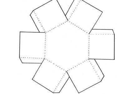 Коробка шестигранник: чертеж 1