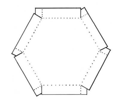 Коробка шестигранник: чертеж 2