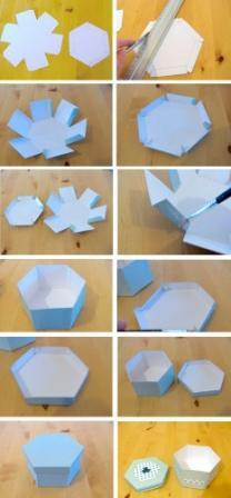 Коробка шестигранник: крок 1