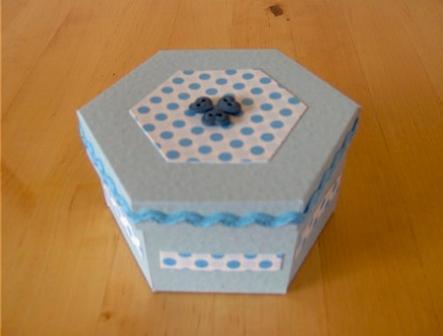 Коробка шестигранник: крок 2