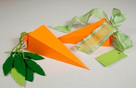 Подарункова коробка у вигляді моркви: крок 4