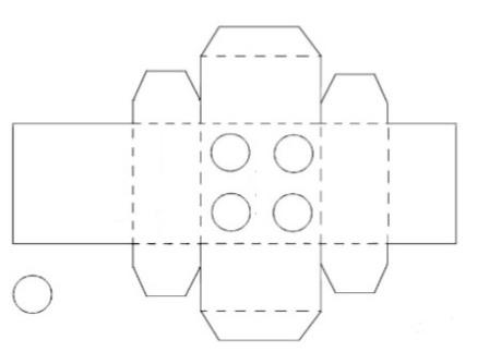 Коробка у вигляді конструктора Лего: чертеж