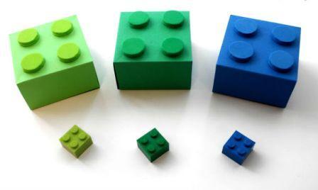 Коробка у вигляді конструктора Лего: крок 3