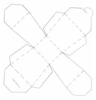 Подарункова коробка з пелюстками: чертеж