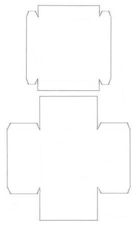 Схема створення подарункової картонної коробки