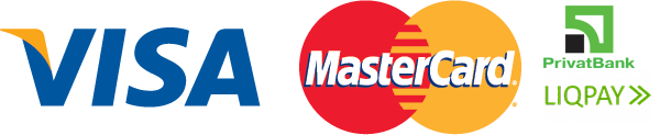 visa and mastercard, privat24, liqpay