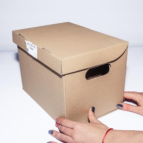 Архивная картонная коробка под лист А4 формата