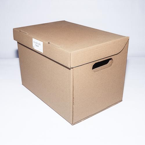 Самосборная архивная коробка со встроенной крышкой
