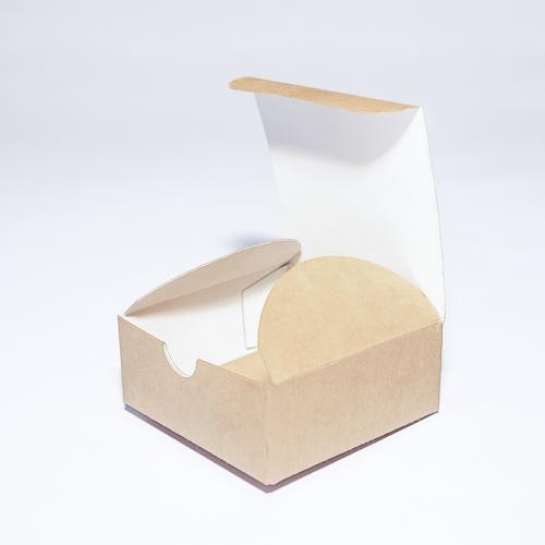 Самосборная подарочная коробка из крафт-картона