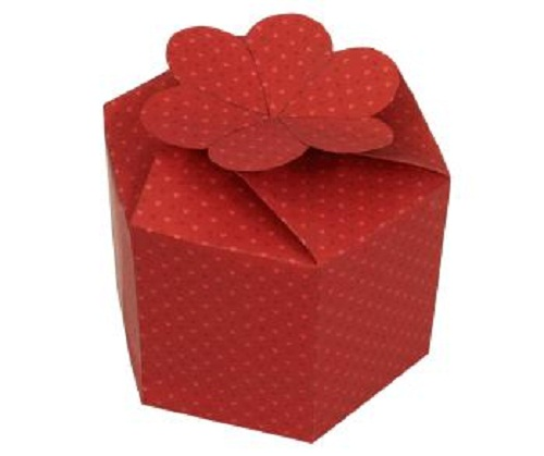 Подарочная коробка из мелованного картона с печатьюй