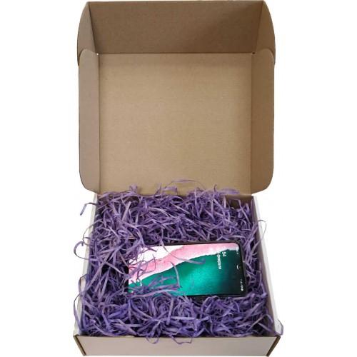 Самосборная коробка для подарка с наполнителем внутри
