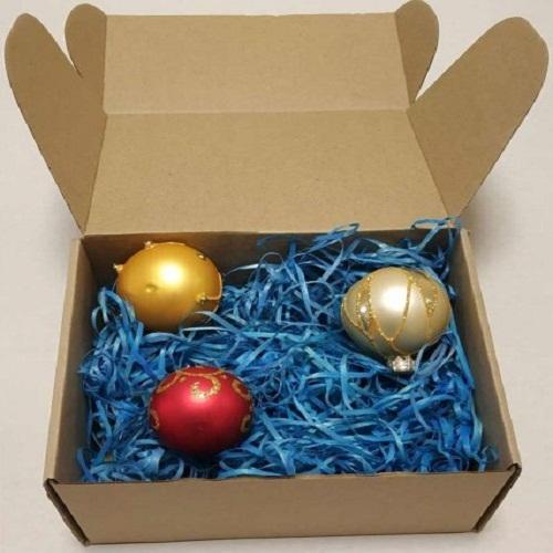 Самосборная коробка для елочных игрушек