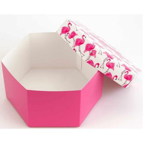 Шестиугольная Подарочная коробка из мелованного картона с печатью от производителя